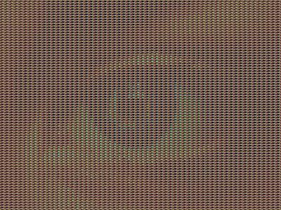 Two Metters Away - Ref. Eye 01 rytm pattern optical illusion optical art pixelart pixel pointillism