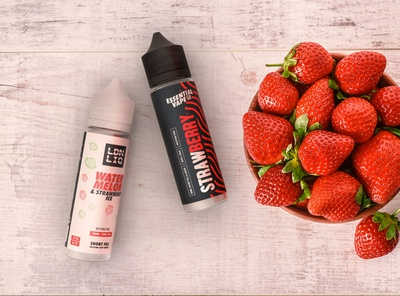 Branding and Packaging watermelon strawberry vape juice strawberry packaging strawberry vape juice design e-liquid vape juice packaging vape juice vape e-liquid bottle eliquid packaging vaping branding