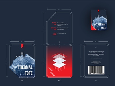 Thermal Tote Hang Tag copywriting vector design packaging graphic design branding