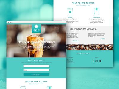 Kinship Coffee Co. Landing page one page landing page web ui ux branding