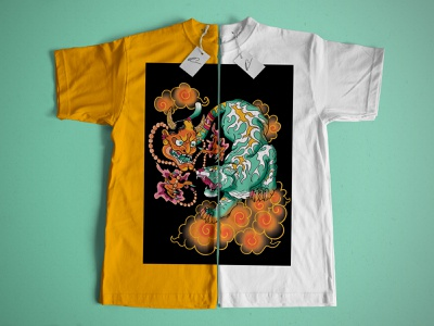 Illustration sur textile textile illustration design irezumi illustration