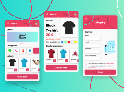 Shopping app concept shopping app android mobile shopping ui illustration ux vector design branding app animation