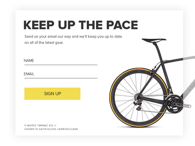 DailyUI 001 - Sign Up bike specialized sign up 001 dailyui daily ui