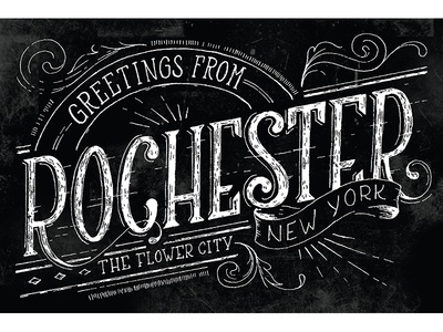 Rochester, NY postcard