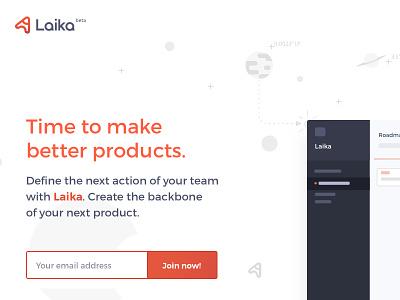 Laika LP (sneak peek 1 of 3) goodpatch japan tokyo lp landing page product design product development pm tool product