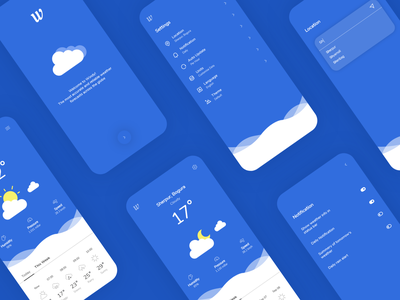 Windy Weather App ux ui application ui ios app design android app design uiux design weather app mobile app ui