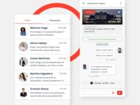 Redaria app chat component