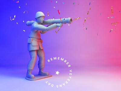 Veterans Day! remember soldier cinema 4d cinema4d 3d art veteran veterans veterans day
