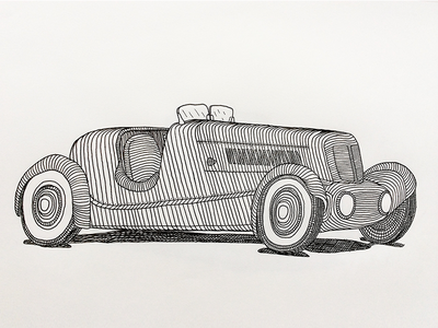 Edsel Ford's 1934 Model 40 Special Speedster illustration cars drawing pen paper ford classic