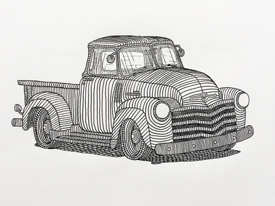 Icon Thriftmaster illustration truck drawing pen paper classic