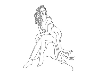 One line - 17 tumblr women pinup illustration design art line