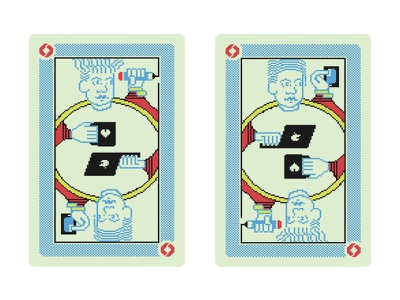 Process business/playing cards branding design illustration