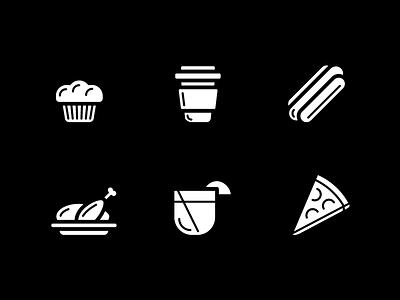 Food Icons - Fill food illustration ui design icon