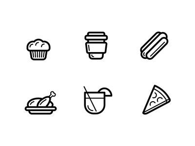 Food Icons - Outline design ui illustration icons food