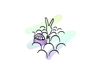 Flower child peace branding design color hippies peace doodle illustration
