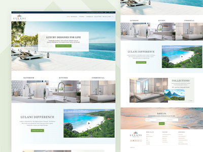 Lulani Faucet Company website ui ux branding animation web design