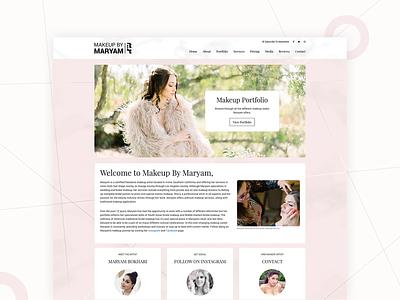 Makeup By Maryam seo logo illustration website web ux ui design branding