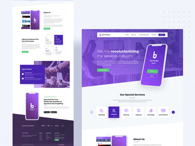 Behtreen - Mobile Application & Website Design branding design ios app design app android app design website ux ui