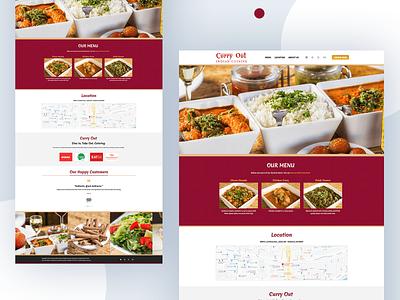 Curry Out - Restaurant Website illustrator seo web website ux design ui branding