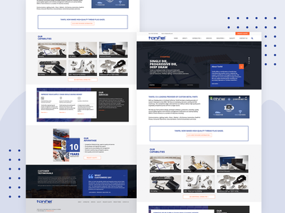 Tanfel - Corporate Website web seo website ux ui design branding