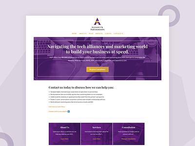 Alliance And Partnerships illustrator seo web website ui ux design branding