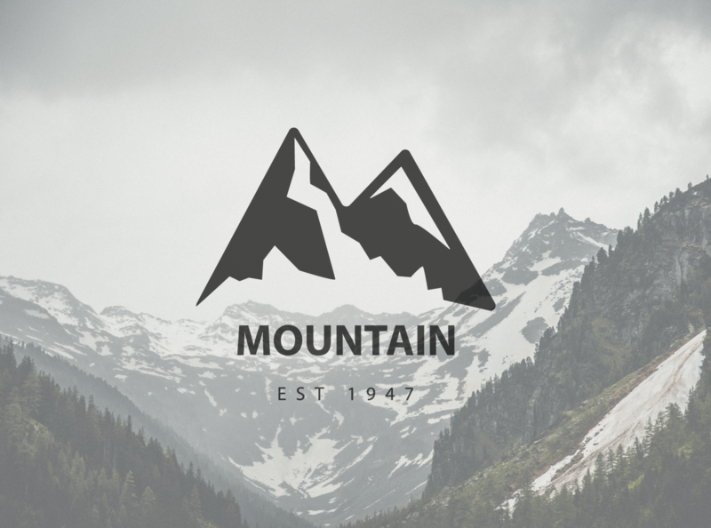 Mountain 🏔 logo simple design illustration vector mockup branding logo creative creative design logo design