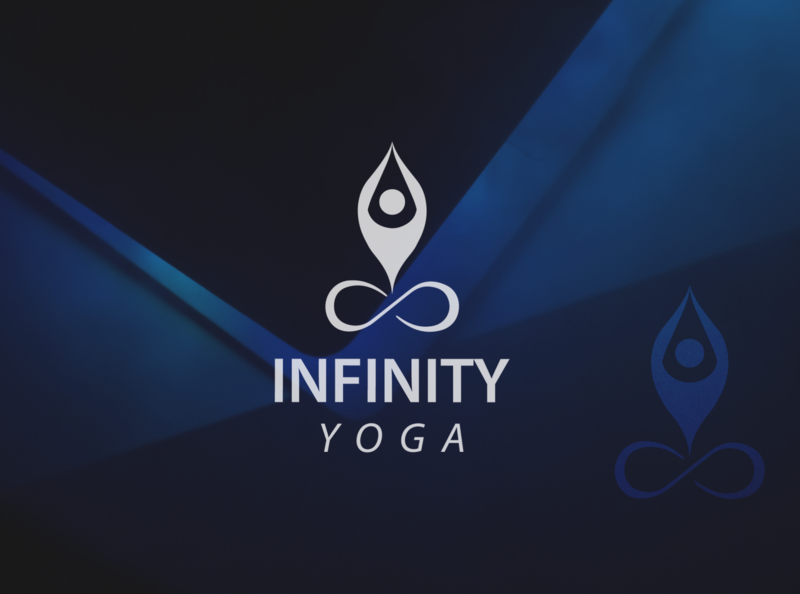 infinity yoga typography vector simple mockup illustration design creative logo creative design logo design