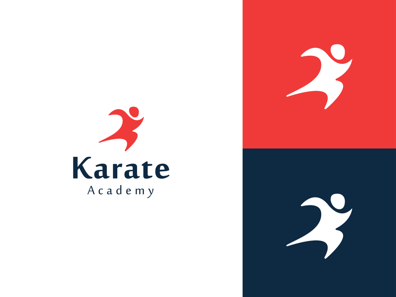 karate 2 logo design minimal minimalist logo vector simple illustration creative creative design logo logo design