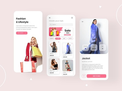 Fashion & Lifestyle Shopping App Design Concept mobile app design app development app developer app designers app design app concept