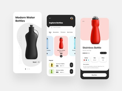 Water Bottle Shopping App Design appdesign delivery app mobile app developer app concept design clean concept illustration concept app development application app design mobile app design android app water bottle app design concept water bottle water bottle app design