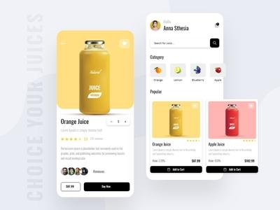 Fresh Fruit Juice App Design application mobile app design concept ux ui