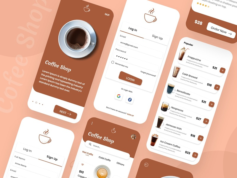 Coffee Shop App Design app concept app design app designer application ui application design mobile application illustration clean concept concept app development android app design concept mobile app design coffee shop coffeeshop