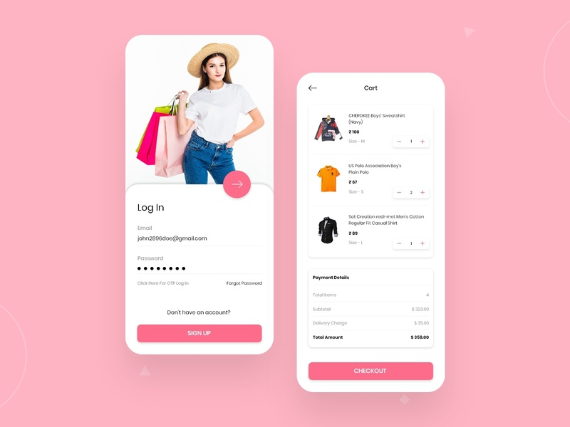 Fashion And Lifestyle Shopping App Design uidesigner designers mobile app app mobile design fashion design ux app concept illustration application clean concept app development app design android app mobile app design lifestyle illustration fashion app shopping app