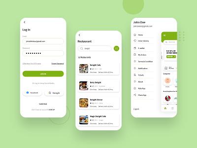 Grocery Delivery App Design illustration application concept clean concept app development app design android app mobile app design grocery store grocery online delivery service delivery app grocery app