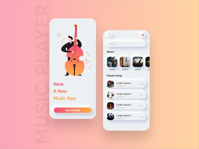 Music Player App Design app designers appdesign design application clean concept android app app concept concept art concept design app design ui ux mobile app design app development music player music app music player app
