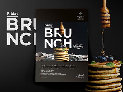 Friday Brunch Buffet Kempinski simple visual flyer design hotel breakfast friday guidelines layout magazine brunch ad