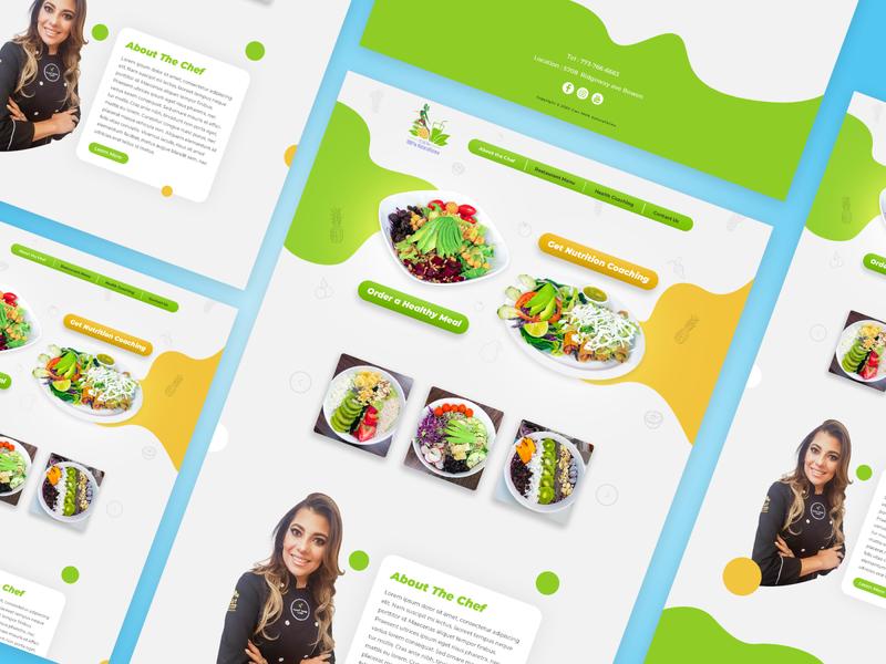 Web Landing Page Design web flat ux adobexd typography homepage design ui minimal design branding