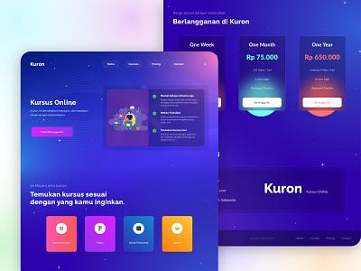 Kuron - Online Courses landing page design landingpage typography webdesign uxdesign uiuxdesigner uiux uidesign graphicdesign ui ux dribbble