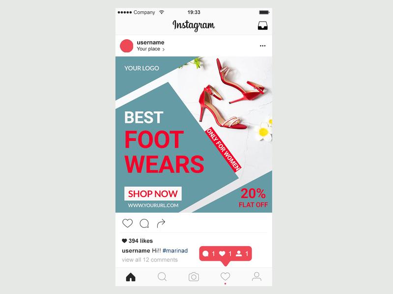 Instagram Ads Post design adobe photoshop social media post design instagram ad design poster design ads design ad design