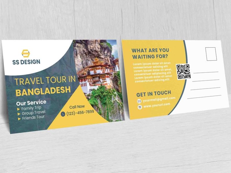 Travel Tour Postcard travel postcard postcard mockup postcard template postcards postcard project postcard design postcard