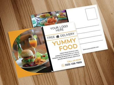 Food Postcard Design For Print postcard mockup postcard template print design postcard eddm postcard postcard art postcard design