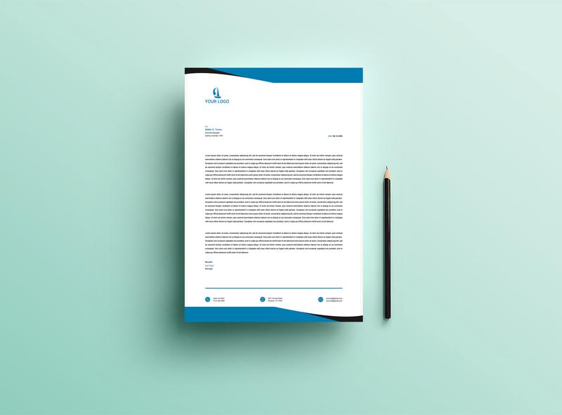 Letterhead 01 print design letterheads letterhead template letterhead letterhead design