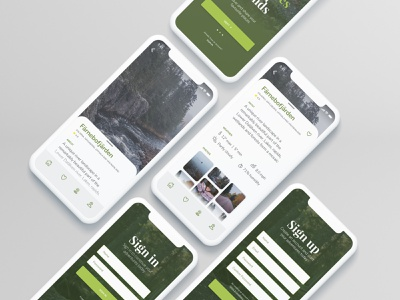 Nature Reserve App UI icon typography nature design ux ui mobile app design mobile ios icons clean app