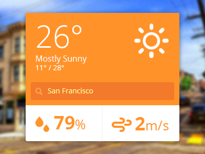 Flat ui weather widget