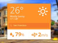 Flat Ui Weather Widget