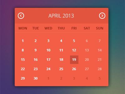 Flat ui calendar widget