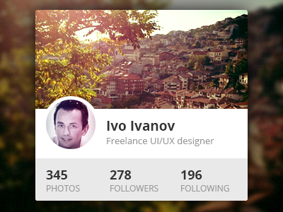 Instagram Profile Widget instagram profile widget ui flat metro avatar cover photo metro style