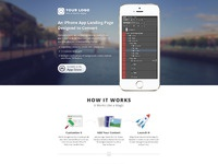 Iphone app landing page city river