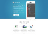 Iphone app landing page blue