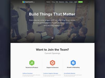Work at Teamwork.com jobs careers teamwork teamworkpm landing page